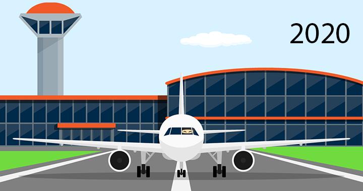 2020 Travel Header Airplane and Ninja